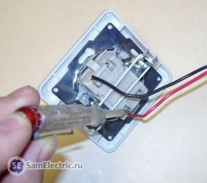 Проверка фазы на выключателе