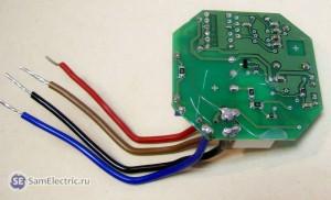 Электронное импульсное реле - вид со стороны пайки