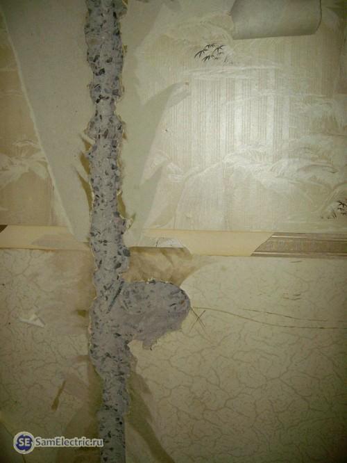 Штроба в панельной стене