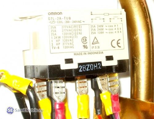 Электросхема проточного водонагревателя. реле, включающее ТЭНы