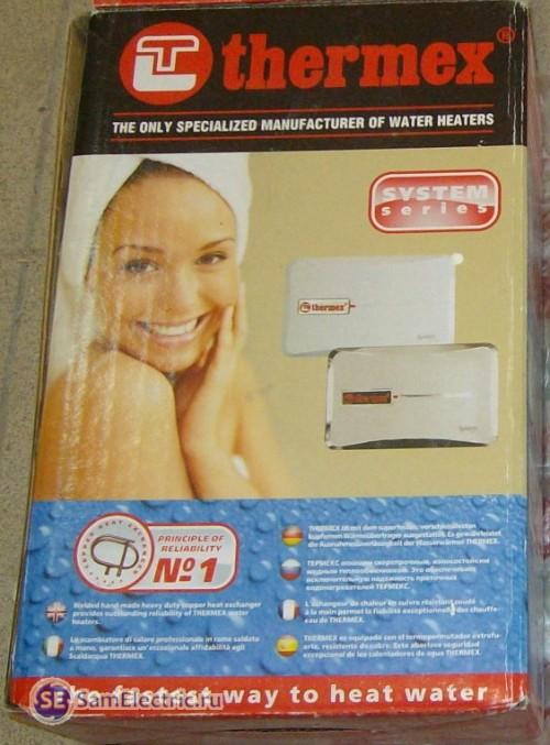 Проточный водонагреватель Termex_коробка