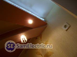 Подсветка потолка светодиодным дюралайтом