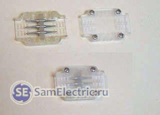 Разъем-переходник, чтобы подключить дюралайт к сетевому шнуру или к другому куску (отрезку)