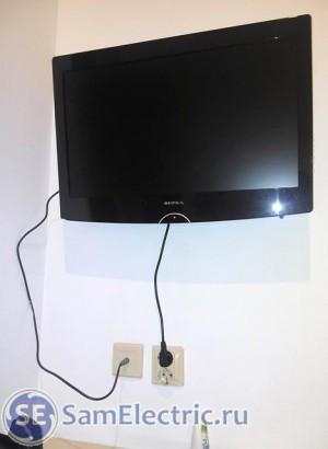 Розетки для телевизора - вариант установки