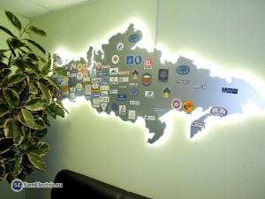 Карта с лейблами
