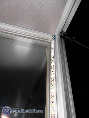 Светодиодное освещение витрин. Установленная лента-выход
