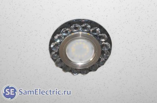 Правильная установка светодиодных светильников в натяжной потолок