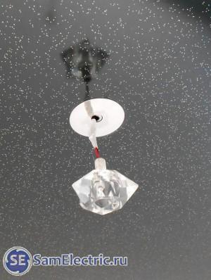 Пример неправильного монтажа светодиодного светильника. как не надо монтировать светильник в натяжной потолок