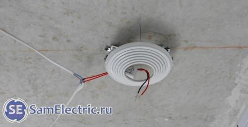 Опорная платформа для монтажа светильника в натяжной потолок