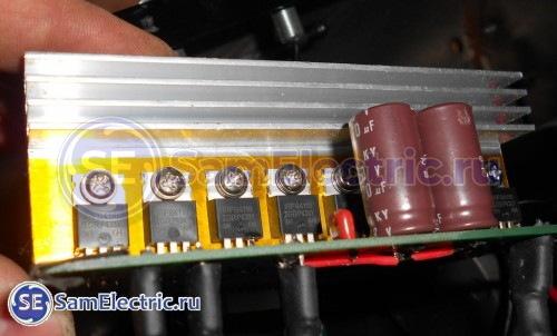 Силовые транзисторы, плата управления