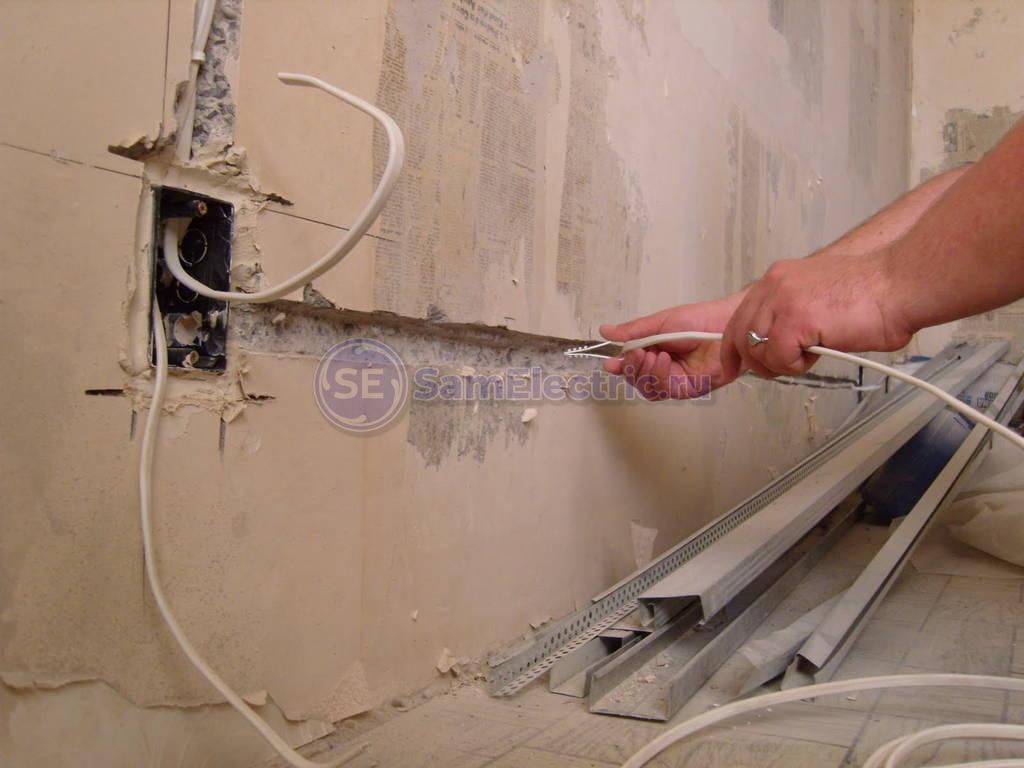 Прокладка электропроводки в квартире своими руками фото