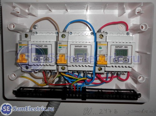 3 - Электрощит собран и установлен