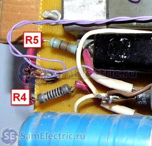 Рис5. Группа резисторов делителя напряжения.
