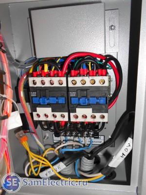 Подключение АВР к вводному щитку и генератору