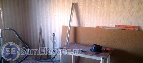 Процесс прокладки проводки в квартире в панельном доме