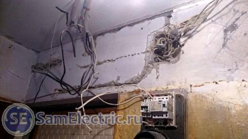 Проводка к электрощитку