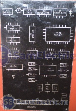 схема электрическая токарного станка - расположение элементов