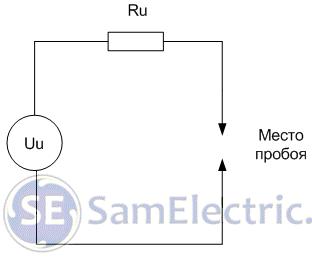 Рис.1. Схема электрического разрядника