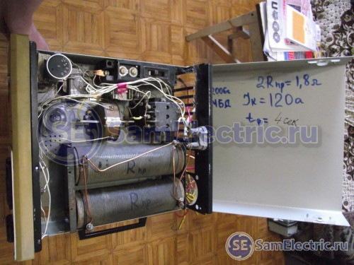 Фото прибора для сваривания жил в электрическом кабеле