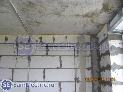Прокладка антенного кабеля по потолку