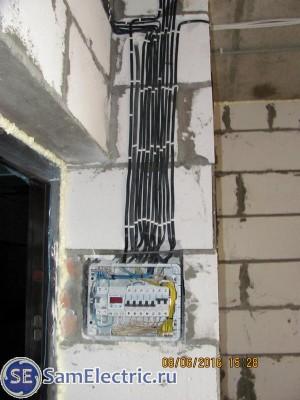 Квартирный электрощиток с автоматами