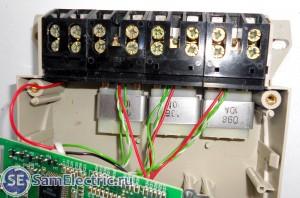 Устройство трехфазного счетчика Энергомера цэ6803в, входные цепи