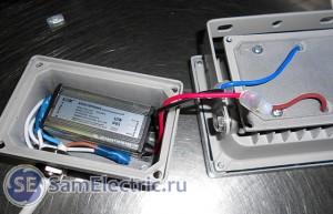 Светодиодный прожектор Leek 10 Вт - разбираем корпус