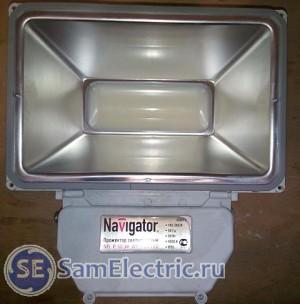 Светодиодный прожектор Navigator, 50 вт. Вид спереди со снятым стеклом