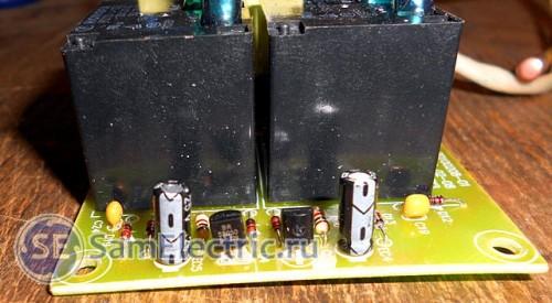 Силовая электронная плата настенного водонагревателя Thermex ID 80 H. Вид на ключевые транзисторы реле.