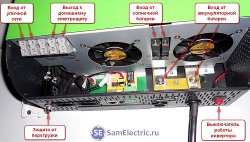 Солнечный однофазный аккумуляторный инвертор для дома
