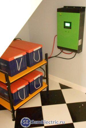 Монтаж энергосистемы для дома на солнечном инверторе Ecovolt