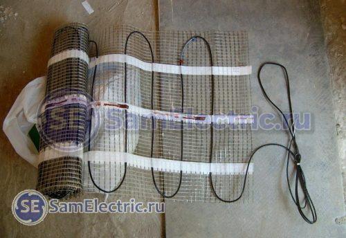 Кабельный электрический теплый пол на мате