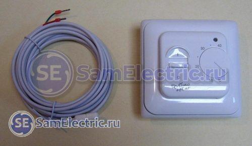 Комплект регулятора теплого пола - термоконтроллер и датчик температуры