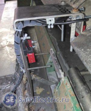 Кабельный спиральный бандаж. Применение для защиты кабелей при установке датчиков