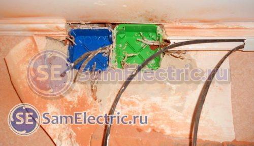 Устанавливаем распределительные коробки для соединения проводов