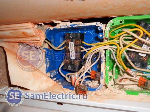 Соединение медных и алюминиевых проводов в распределительной коробке с помощью клемм