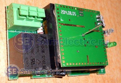 Схема микроволнового датчика. Реле для включения освещения