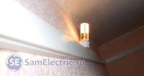 Светодиодные лампочки, включаются от датчика движения через блок питания