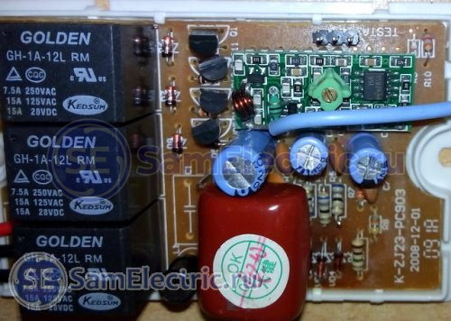 Внешний вид схемы контроллера поближе