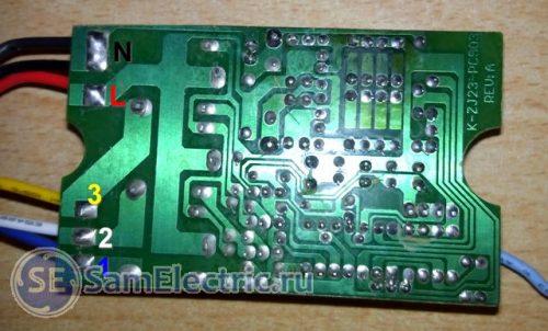Печатная плата контроллера. Вид со стороны пайки