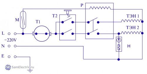 электросхема проточного водонагревателя термекс