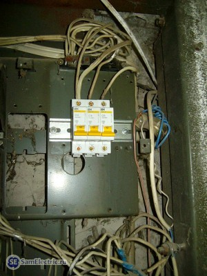 Установка Автоматических выключателей