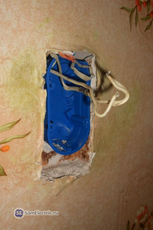 6.Установка новой установочной коробки на старое место