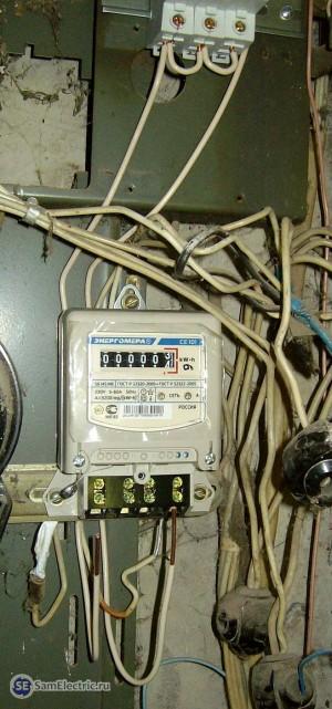 Самостоятельная установка квартирного счетчика электроэнергии Энергомера СЕ 101 своими раками
