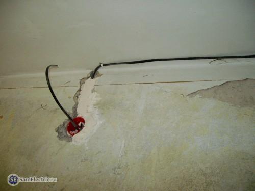 Проводка в потолке и в штробе