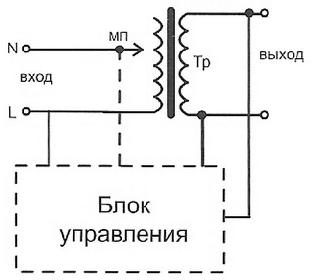 Схема стабилизатор напряжения для газового котла в