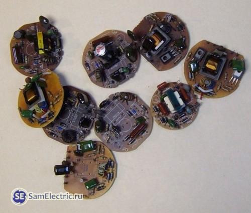 Электронные балласты от энергосберегающих ламп