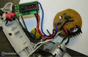 Фен Интерскол ФЭ-2000. Плата DB230V. Фото в разборе.