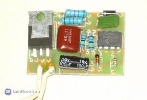 Схема электрическая блока плавного включения галогеновых ламп Feron