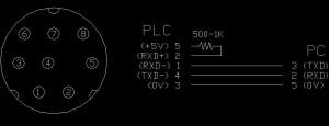 Кабель Троицкого для подключения к контроллеру Mitsubishi Melsec FX